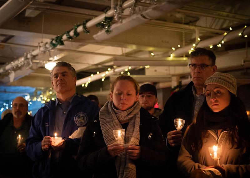 Among those at the vigil was Portland Mayor Ethan Strimling