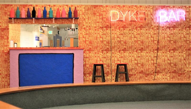 """Eulogy for the Dyke Bar,"" on display at the University of Southern Maine's AREA Gallery through Dec. 7."