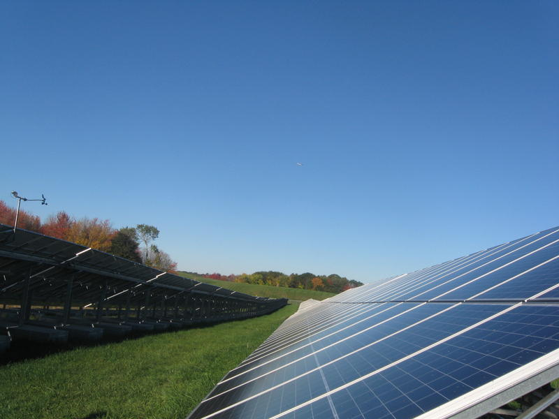 South Portland's solar array, the largest municipal solar installation in Maine, went online in October of 2017.