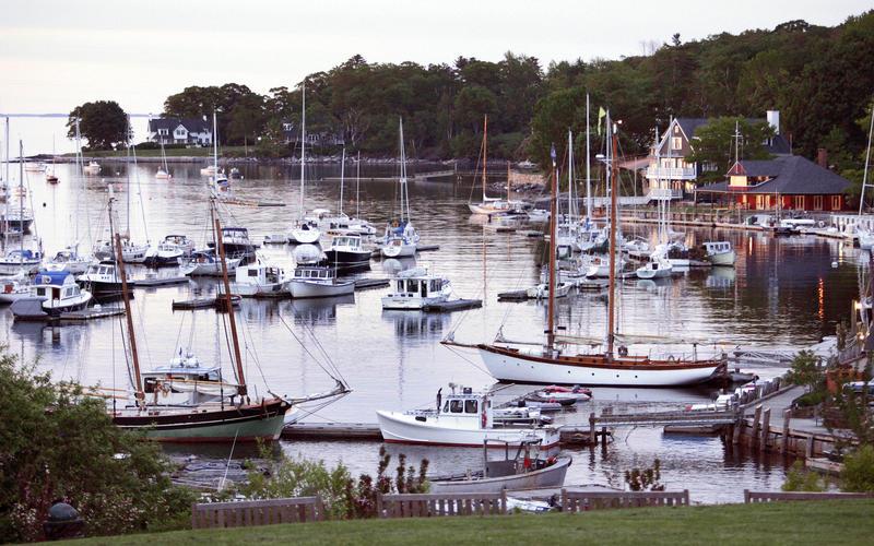 Camden Harbor on  June 8, 2007, in Camden Maine.