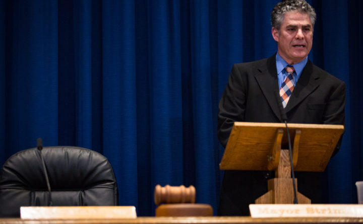Portland Mayor Ethan Strimling delivers his third State of the City address in City Hall in this file photo.