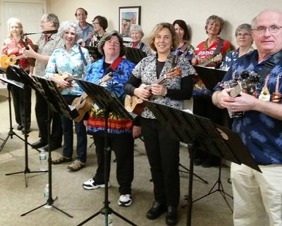 Maine Musicians Demonstrating The Ukulele Is Not Just For Luaus