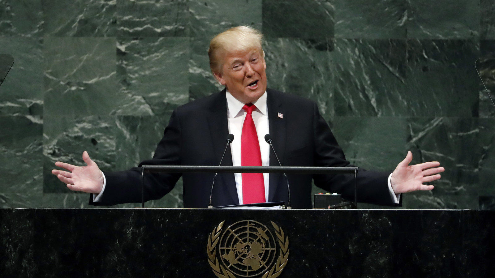 Trump Holds Press Conference At UN