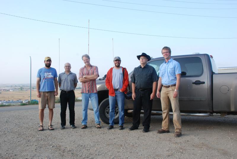 Bill Caraher and his team of researchers; from left to right: John Holmgren, Kostis Kourelis, Bret Weber, William Caraher, Richard Rothaus, and Aaron Barth.