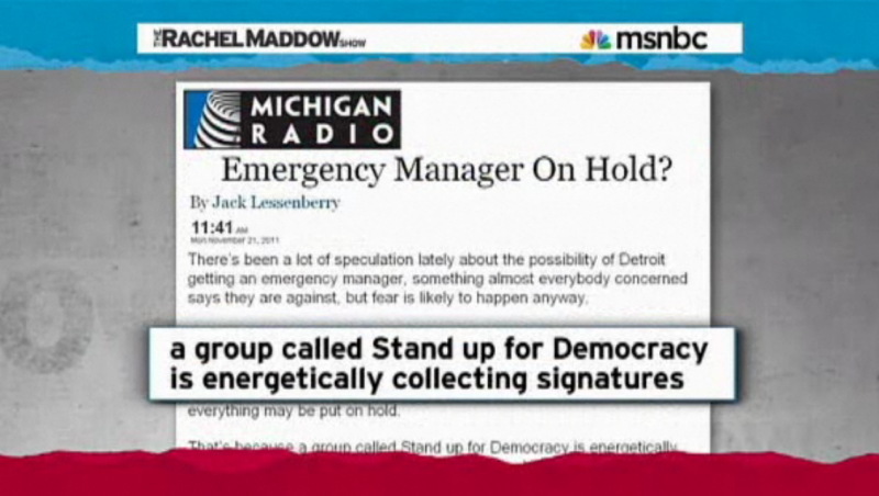 "Michigan Radio on ""The Rachel Maddow Show"""