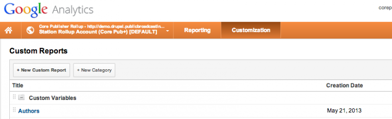Google Analytics Navigation for Custom Report Creation