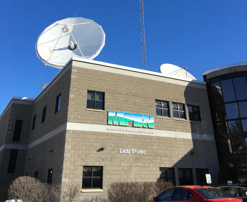Maine Public Broadcasting Network's office building in Lewiston, Maine.