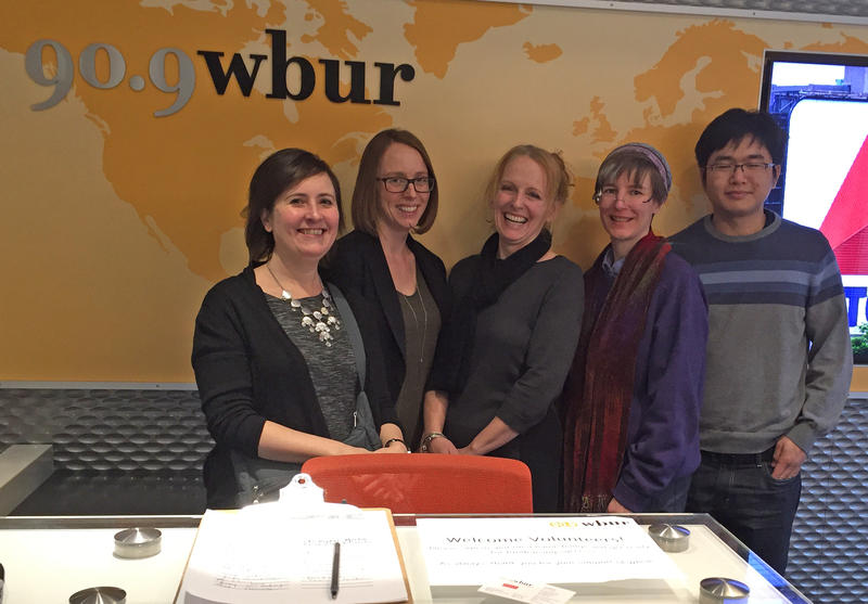 Digital Services staff at the offices of WBUR.