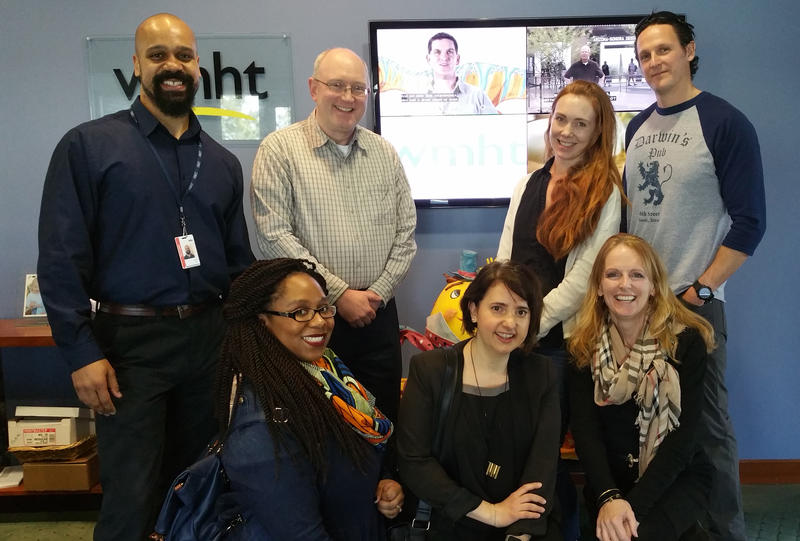 The DS team along with some of our station hosts. Clockwise from upper left: Justin Brown, Chris Wienk, Mary Gribulis, Mike Fussell, Jackie McBride, Asli Binal, and Rakiesha Chase-Jackson