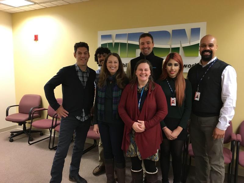 Left to right: Adam Kiryk (DS), Andrew Catalina, Barbara Cariddi, Chris Sweet, Rebecca Conley (MPBN), Bina Zafar, Justin Brown (DS)