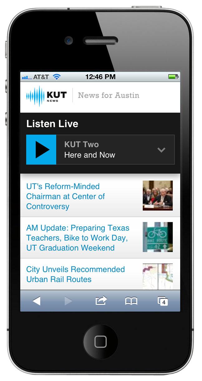 KUTNews.org's mobile site