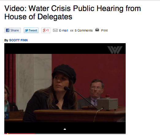 An example of many posts that contained live video and audio, as well as the archives, from public hearings and press events.