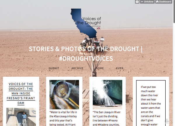 The Voices of the Drought Tumblr is a mix of photos and stories from reporter Ezra David Romero, and submitted images from student reporters