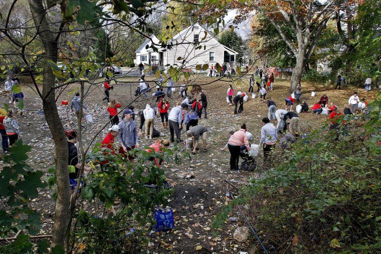 Keene State Students Clean Up After Mayhem Near Pumpkin