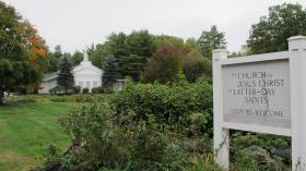 The Church of Jesus Christ of Latter-Day Saints meetinghouse in Wolfeboro, NH is a second spiritual home for the Romneys.