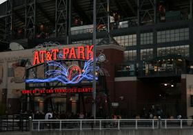 The San Francisco Giants' AT&T Park, which has saved substantial amounts of energy through a series of lighting retrofits.
