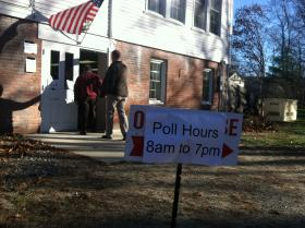Voters head to the polls in Hancock, N.H.