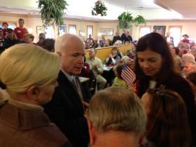 Cindy McCain, Sen. John McCain and Sen. Kelly Ayotte
