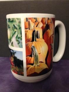 Beautiful photos captured by NHPR's own Christie Doyle, the images of pumpkin and apples pop out in this 15 ounce made in the USA mug.