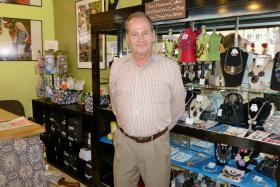 Richard Young in his shop