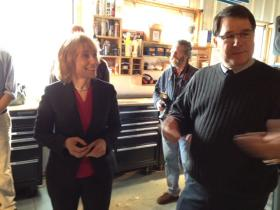 Gov-elect Maggie Hassan and Therma-HEXX CEO Robert Barmore