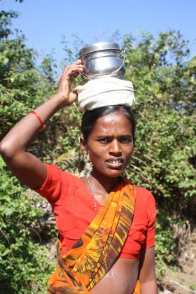 The Women's Earth Alliance helps women around the world secure their rights and safety and remove barriers to full participation in society by supporting them in addressing the environmental issues impacting their lives. Pictured: A female farmer in India.