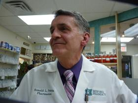 Ron Petrin owns Bedford Pharmacy. He's been compounding for 30 years, and calls the work gratifying.