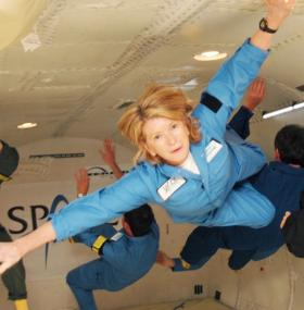 Martha getting her Zero-G on