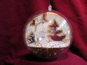 One of the ornaments created by students at the Indian River School in Canaan.