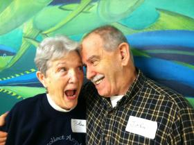 John and Rhea Pereira attend the Alzheimer's Cafe in Dover each month.