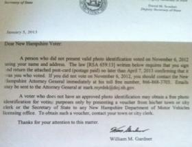 An example of the verification letter being sent out to roughly 7,000 N.H. voters.