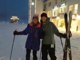 Gerri Schiffman and her daughter went out snowshoeing and skiing Friday night