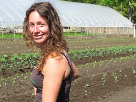 Tracie Smith, a Fitzwilliam farmer who sells crops to locals by the share