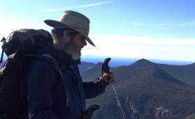 Mike Hanson, blind hiker, on the Appalachian Trail
