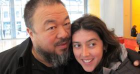 Ai Weiwei with filmmaker Alison Klayman