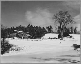Historical photo of Flanders farm in Landaff, New Hampshire.