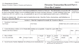 Federal Firearms Transaction Record, Form 4473