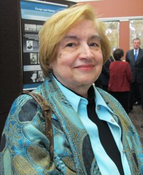 Kathy Preston regularly tells her story to 8th grade classes learning about the Holocaust