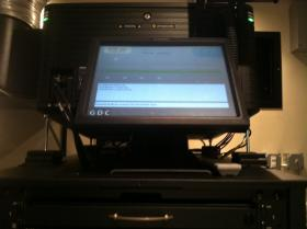 The new digital projector at Red River Theatres in Concord.