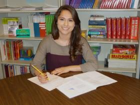 Itziury Zamora is a student at the Nashua Adult Learning Center and is taking her GED.