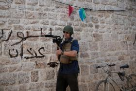 Journalist James Foley at work in Aleppo, Syria, a few weeks before he was reportedly abducted by unknown gunmen.