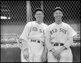 Boston Red Sox Wes Ferrell and Bill Werber at Fenway Park.