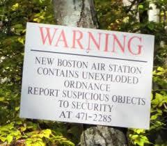 Signs today still warn of Explosives at Joe English Pond