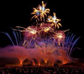 Fireworks in Jaffrey.