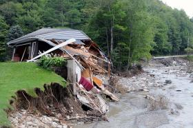 Home destroyed by Hurricane Irene.