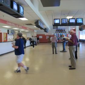 Simulcasting doesn't draw the crowds that the live thoroughbred and harness racing did.