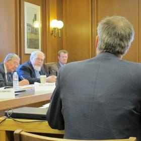 Steve Norton takes questions during a recent subcommittee hearing.