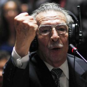 Former Guatemalan dictator Efrain Rios Montt during his trial.