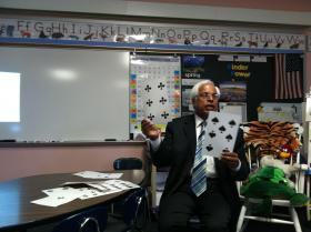 Mahesh Sharma demonstrates good teaching practices for Kindergarten math.