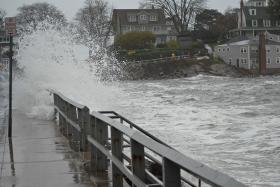 Pictured: flooding in Marblehead, Massachusetts caused by Hurricane Sandy on October 29, 2012.